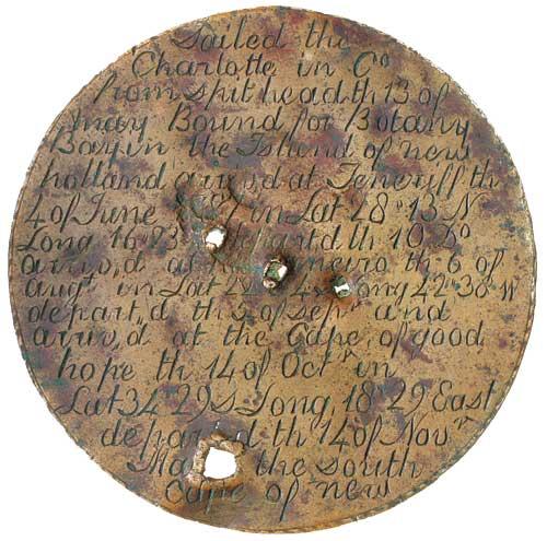Charlotte Medal in Copper